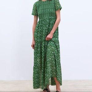 NWT Zara Green Maxi Dress